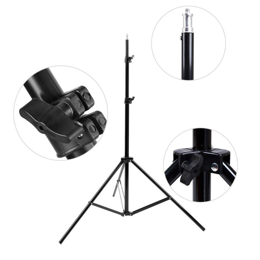 Universal Adjustable 1/4 Head Studio Light Flash Speedlight Umbrella Stand Holder Bracket Tripod 81cm-200cm Studio Photography