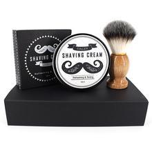 Bellylady 2 шт./компл. набор для ухода за бородой крем для бритья+ кисточка для бритья