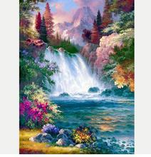 DIY Diamond Painting Beautiful Landscape Cross Stitch 5D Embroidery Full Round Rhinestone Home Decoration