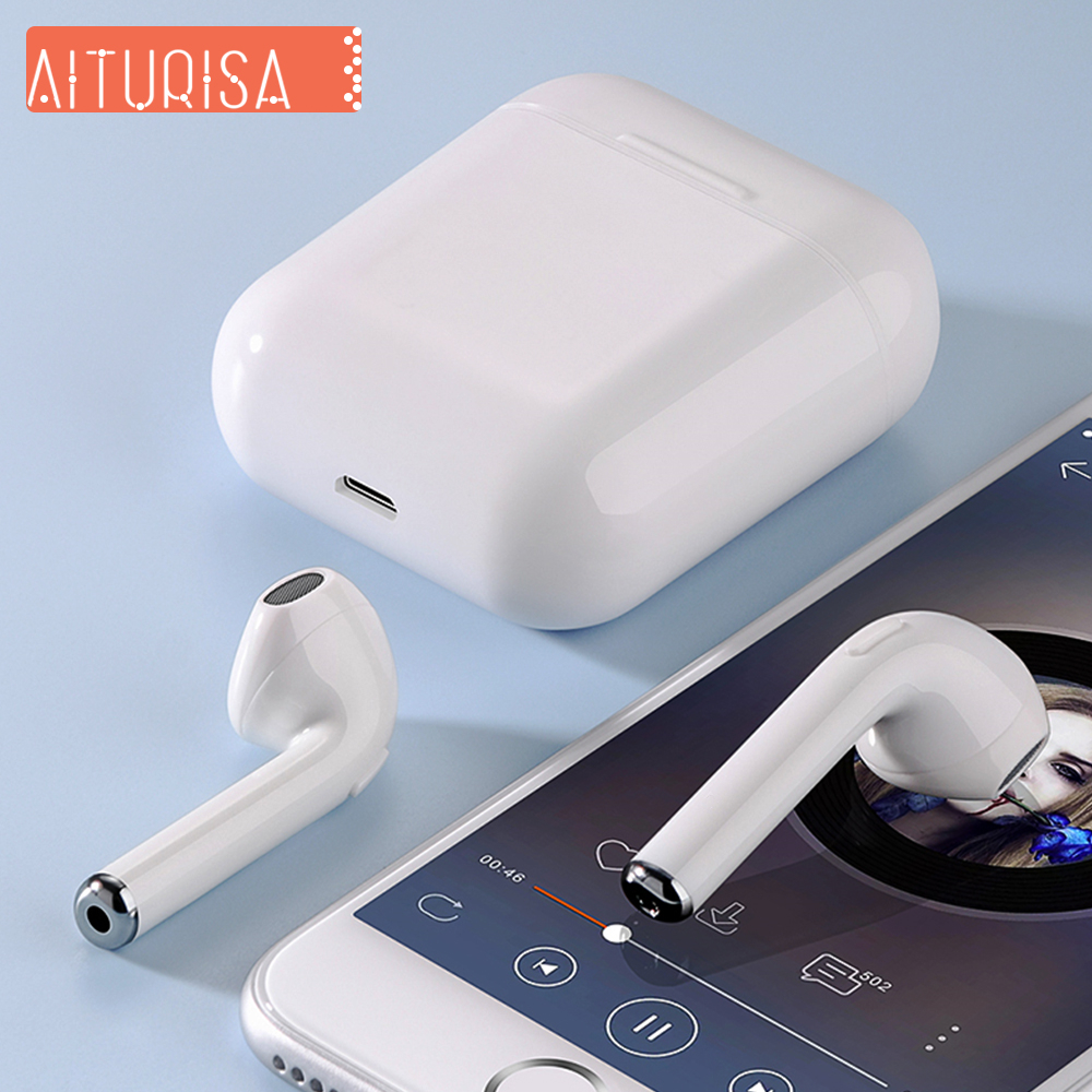 I9s Tws Bluetooth 5.0 Headphones Wireless Earphones Stereo Earbuds 3D Surround Sound With Mic Charging Box For All Smartphones