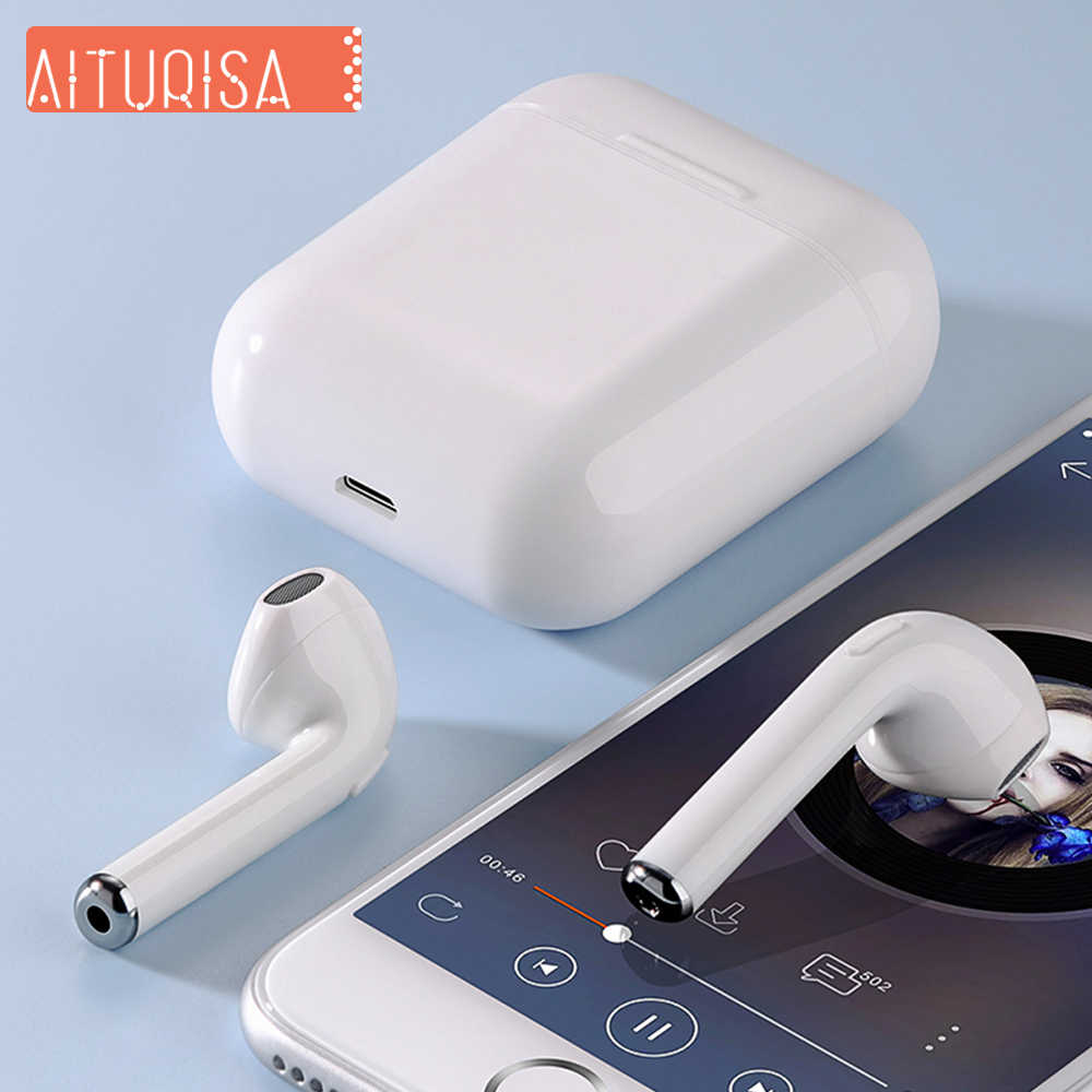 Tws Bluetooth 5.0 headphones Wireless earphones Stereo Earbuds 3D Surround sound with Charging box For Huawei iPhone 5 6 7 8 X