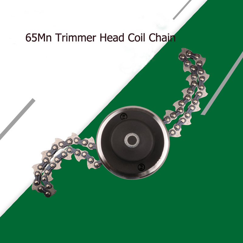 Lawn Mower Trimmer Head Coil 65Mn Chain Brushcutter Garden Grass Parts Trimmer For Lawn Mower Cutter Tool Part Dropshipping