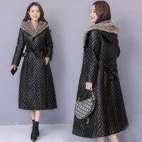 Стильный Для женщин ветровка с хлопковой подкладкой Тренч для Для женщин Casaco Feminino длинный ветер пальто ветровки плащ верхняя одежда