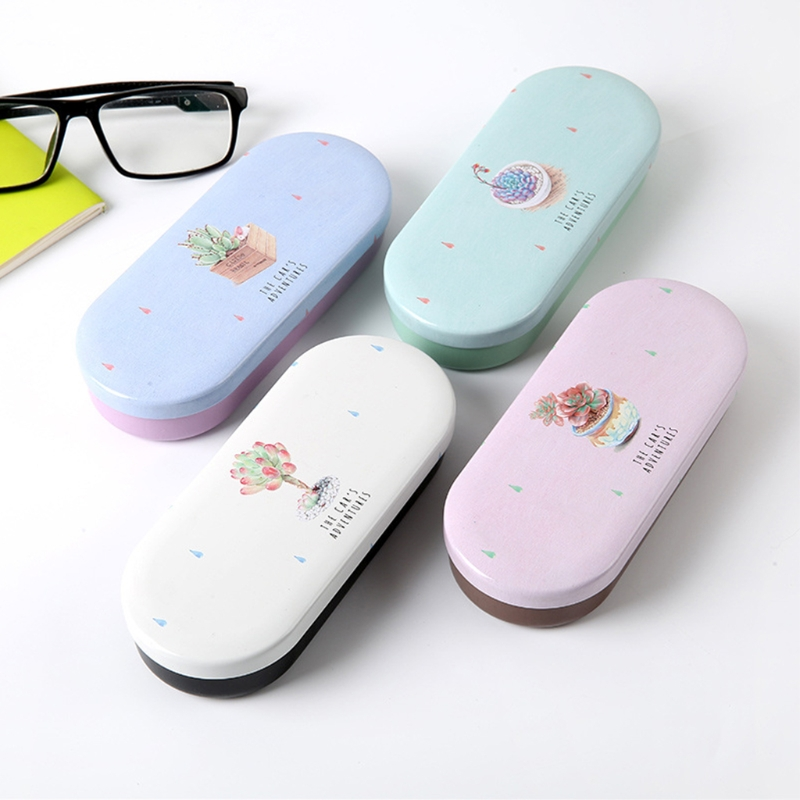 Apparel Accessories 4 Colors 1 Pc Available Hard Glasses Case Protable Glasses Case Metal Eyeglass Sunglasses Protector Hard Box Eyewear Accessories Yet Not Vulgar