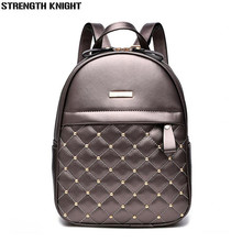 Women Backpack Hot Sale Fashion Causal bags High Quality bead female shoulder bag PU Leather Backpacks for Girls mochila