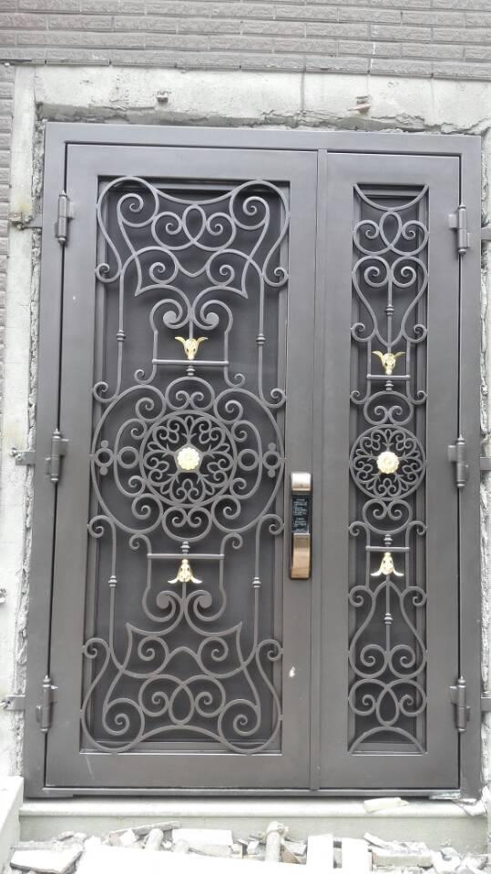 Insulated Double Doors Entry Door With Storm Door Patio Door Styles