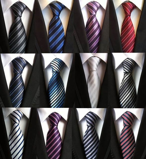 d28fd490f74b Classic Fashion Mens Striped Neck Tie Silk Necktie JACQUARD WOVEN Neck Ties  Work Wedding Groom Best Man Party Gifts