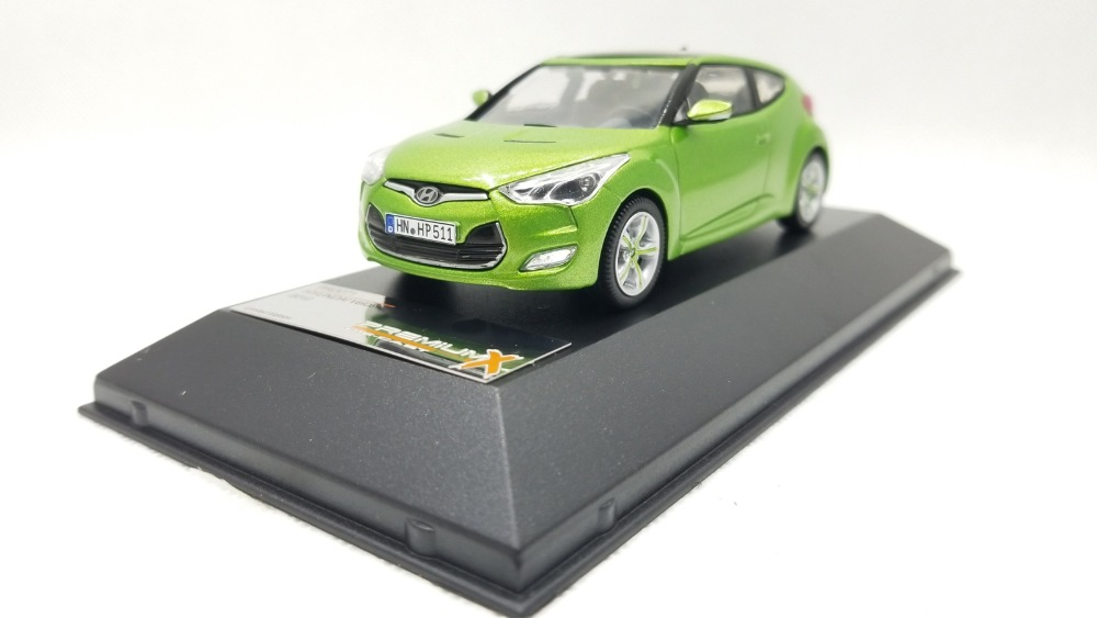 1:43 Diecast Model for Hyundai Veloster 2012 Green Alloy Toy Car Miniature Collection Gifts 1 43 diecast model for mitsubishi eclipse spyder blue alloy toy car miniature collection gifts