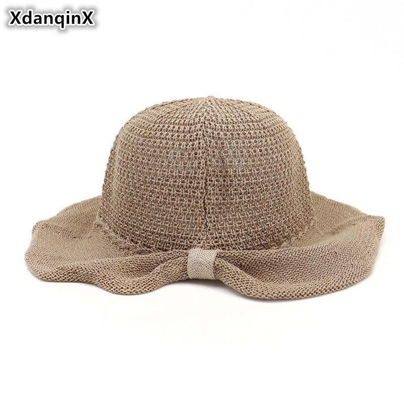 XdanqinX 2019 New Novelty Summer Women 39 s Sun Hats Foldable Breathable Bucket Hat Elegant Lady Sunscreen Beach Hat For Women in Women 39 s Sun Hats from Apparel Accessories