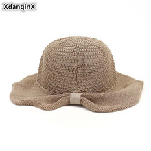 XdanqinX 2019 New Novelty Summer Womens Sun Hats Foldable Breathable Bucket Hat Elegant Lady Sunscreen Beach For Women