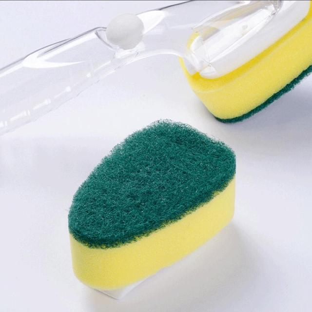 Creative Cleaning Sponge Brush Dish Washing Tool Soap Dispenser Detachable Handle Kitchen Cleaning Tools For Kitchen Brush 1