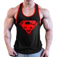 Erkek Kıyafeti'ten Kolsuz Yelekler'de OA erkekler kan vücut geliştirme Stringer İstasyonları Tank Top spor atlet pamuk kolsuz gömlek kas yelek