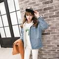 2017 новая мода зимы женщин Корейский издание утолщение и хлопок деним женщина свободно Высокое качество и удобная куртка