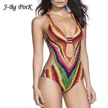 Women Bandage Swimwear Bohemia One Piece Swimsuit Bathing Suit Thong Swimwear Ladies Monokini Plus Size Swimwear Badpak