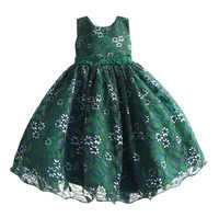 Baby Girls Lace Dress 2018 Kids Evening Dress Children Princess Dresses For Party And Wedding 4-9T