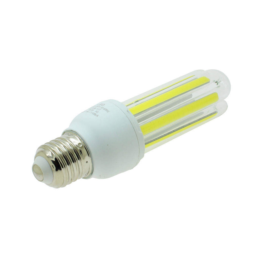2x cob led bulb lamp E27 9w 3U shaped corn light Ac 86 265v warm ...