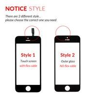 Лучшее качество Переднее стекло для iPhone 5 5S сенсорный экран дигитайзер панель Замена объектива внешнее стекло для iPhone 5S 5 SE с инструментами