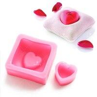 Luyou 3D Kalp Şekli Yastık Silikon Sabun Kalıpları Mum Kalıpları Fondan Kek Dekorasyon Çikolatalı Mus Kek Pişirme Araçları FM1201