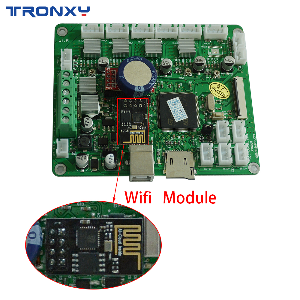 TRONXY Newest Version Wifi Upgrades Controller Board Cloned DuetWifi Advanced 32bit Motherboard For 3D Printer XY-2 X5SA MachineTRONXY Newest Version Wifi Upgrades Controller Board Cloned DuetWifi Advanced 32bit Motherboard For 3D Printer XY-2 X5SA Machine