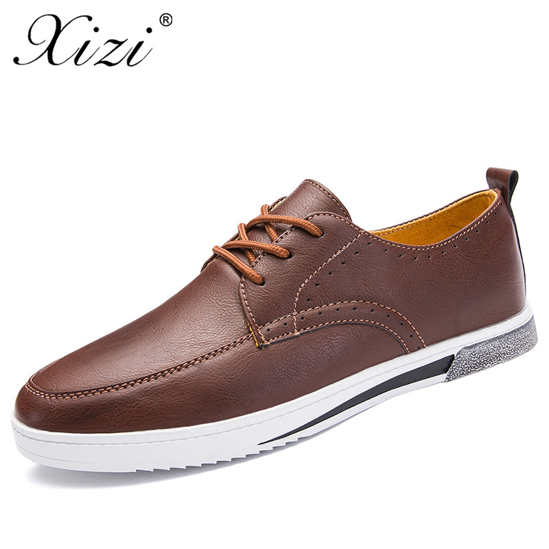 XIZI Brand New Men fashion Casual Style Retro Style Shoes High Quality Male Casual loafers Shoes Lace Up moccasins boat shoes high quality 2016 new brand aqua two shoes men boat shoes full grain leahter loafers shoes for men us5 5 10 casual shoes men