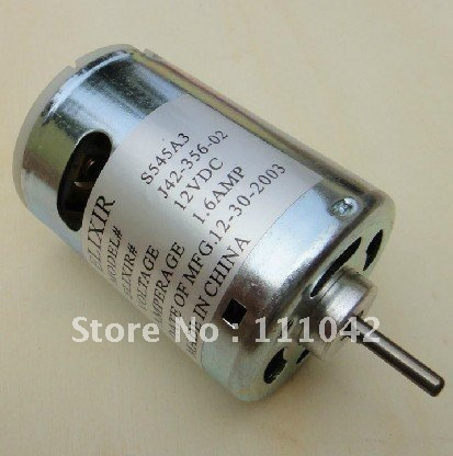 19.2W Crazy motor 545 DC motor 12v 10000rpm, 3KG.CM, large torque, 3mm D-type shaft,free shipping