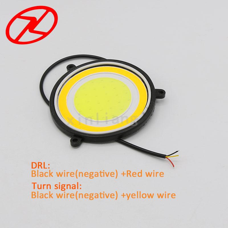 2X fuqi e lartë 90 mm Drejtuar dritës gjatë ditës Drita 12V e - Dritat e makinave - Foto 6