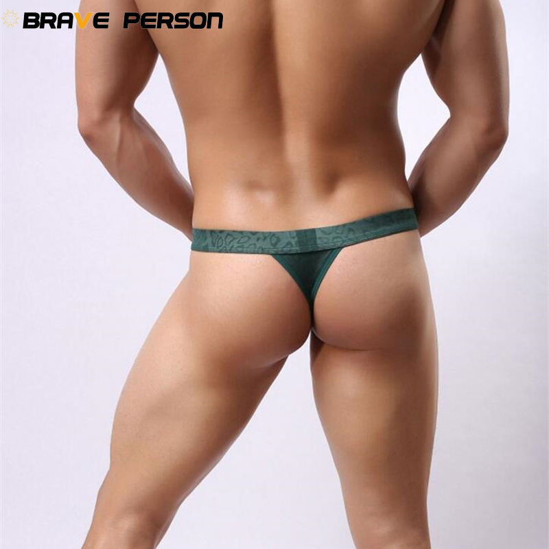 BRAVE PERSON Men Sexy Lace Transparent Personal Briefs Bikini G-string Thong Jocks Tanga Gay Underwear Shorts Exotic T-back 1138