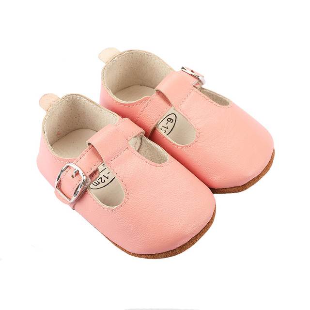 Ezeleven 2019 genuine leather Mary Jane type high quality baby first walk infant toddler shoes baby girls shoes