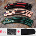 csgo no hole Butterfly in knife handle training knife handle Aerospace aluminum alloy handle karambit Titanium balisong No blade