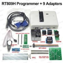 RT809H EMMC Nand FLASH Programmatore + 9 SIM Card e Adattatori + TSOP56 Adattatore + TSOP48 Adattatore + SOP8 Clip di Prova CON CABELS EMMC Nand di Buona Qualità