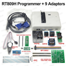 RT809H EMMC programmeur FLASH Nand + 9 adaptateurs + adaptateur TSOP56 + adaptateur TSOP48 + pince de Test SOP8 avec câbles EMMC Nand bonne qualité