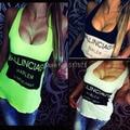 2015 summer Women candy color ballinciaga tanks camisole fitness  t shirt  Crop top cotton singlet  basic tank 4 sizes blusas