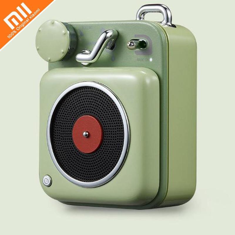 где купить xiaomi mijia cat king atomic record player B612 Bluetooth smart audio retro radio tweeter mini office player smart home дешево