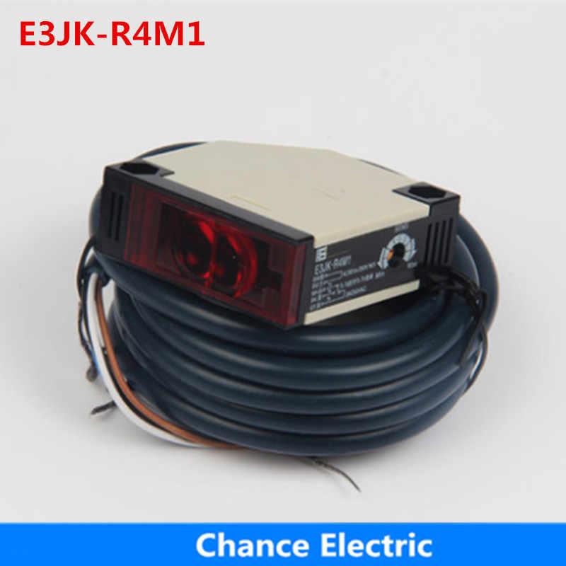 E3JK-R4M1 Инфракрасный 4 м дистанционный релейный выход фотоэлектрический Фотодатчик Рефлектор для датчика-выключателя 12V-24VDC 90-250VAC