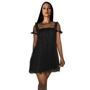 Женское Повседневное платье с коротким рукавом вечернее платье однотонное короткое платье А-силуэта однотонное женское платье с круглым в...