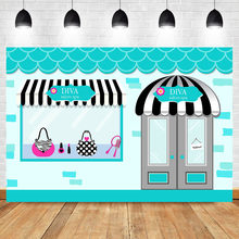 NeoBack Fashion Boutique Background Diva Salon Spa Party Photo Background Salon Teal Pink Gala Banner Cake Table Decorate Props(China)