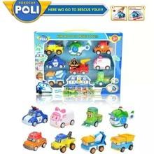 купить Kids Toys Robot Car Pull Back Cars Vehicle Set 8 In 1 Toy Car  Kids Toys Q Children's Toy Police Deformation Car Robot Pull по цене 976.32 рублей