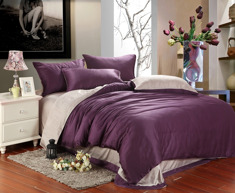 Luxury Purple Bedding Set King Queen Size Duvet Cover Bedspread Bed In A Bag Sheet Linen Bedclothes Bedsheet Sets From Home Garden On