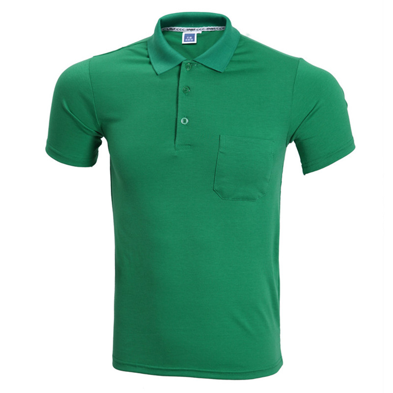 Fashion green polo shirt men polo homme 2016 summer style for Solid color short sleeve dress shirts