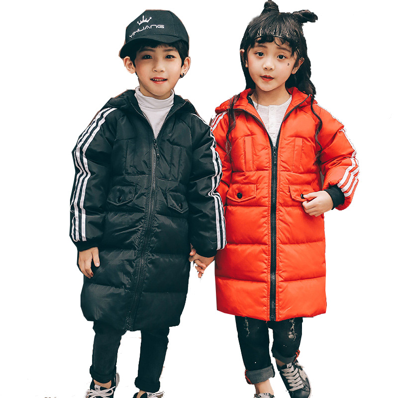 Children White Duck Down jacket  High Quality Boys & Girls Medium Design Down Coats  2017 New Arrival kids Down Coats high quality children down coats 2017