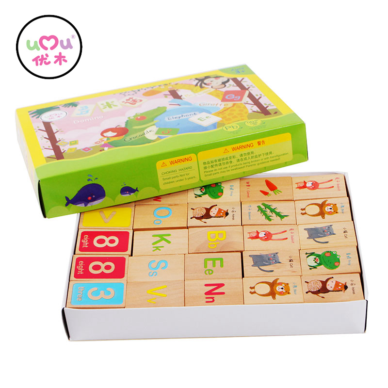 Wooden Educational Blocks Colorful Toys For Children Alphabet Domino Building Blocks Early Learning Toys Gifts UQ1388H купить