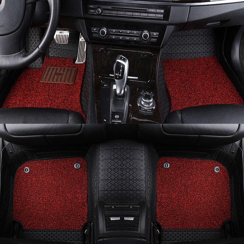 Leather custom car floor mats for Fiat All Models Ottimo 500 Panda Punto Palio Linea Sedici Viaggio Bravo Freemont Floor Mat