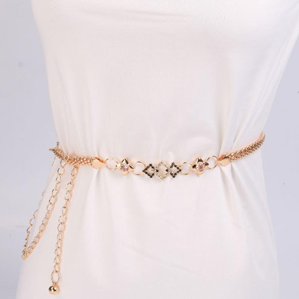 2017 Women's Lady Fashion Metal Chain Style Belt Body Chain Y91930