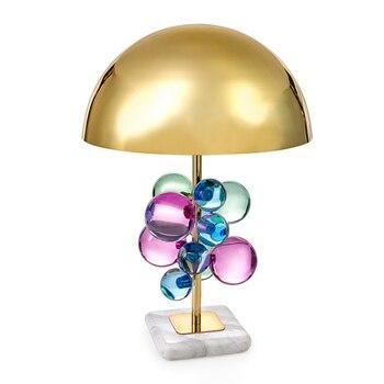 Creativo de Hardware de diseño de escritorio Decoración Luz LED multicolor de la bola de cristal decoración dormitorio lámpara de mesa
