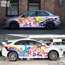 Tailor Made Japanese Anime Cartoon Car Door Stickers Sailor Moon Funny Racing Decal Auto Camouflage Vinyl Film Sports Sticker