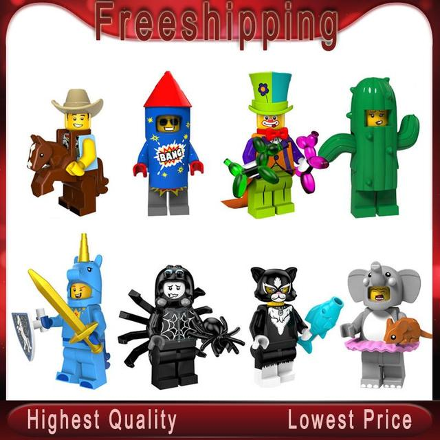 SingleSale cowboy Fireworks boy Circus troupe clown Cactus girl Unicorn boy Catwoman Elephant girl Toys minifigured legoe PG8152