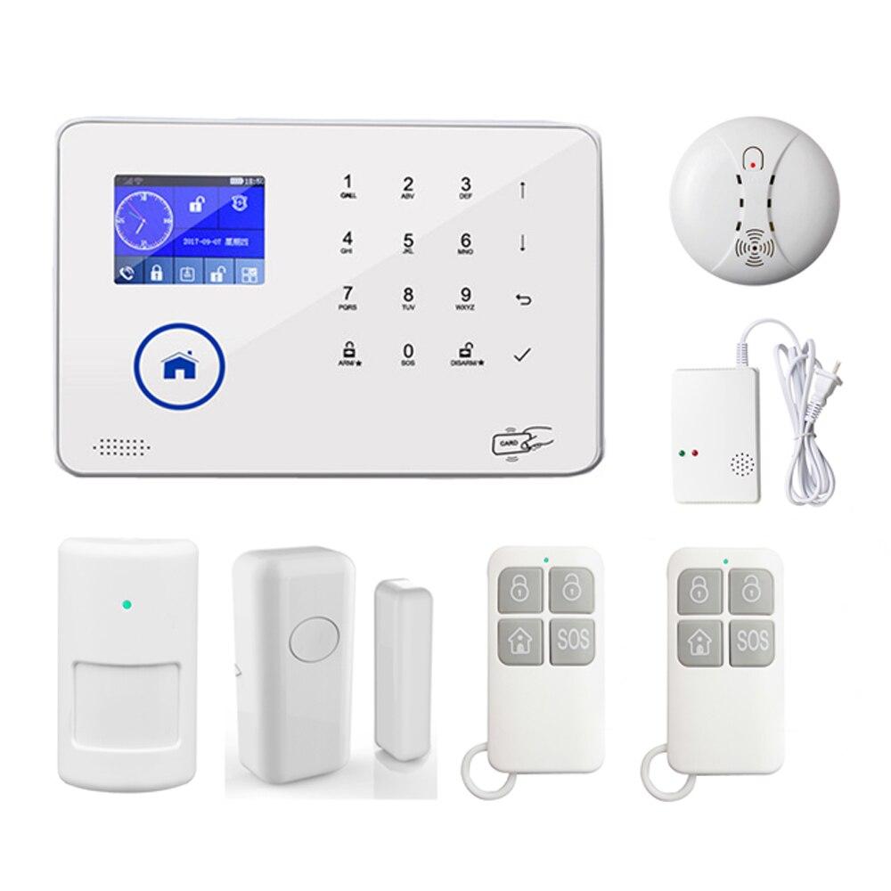 Système d'alarme anti-intrusion WiFi GSM 3G de contrôle de téléphone Mobile sans fil à domicile intelligent capteur de détecteur de mouvement PIR pris en charge