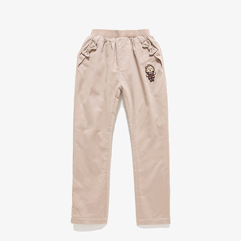 ФОТО T100 Kids Warm Pants Girls Winter Thicken Casual Pants Child Brand Trousers Sports Solid Trousers For Girls Baby Harem Pants