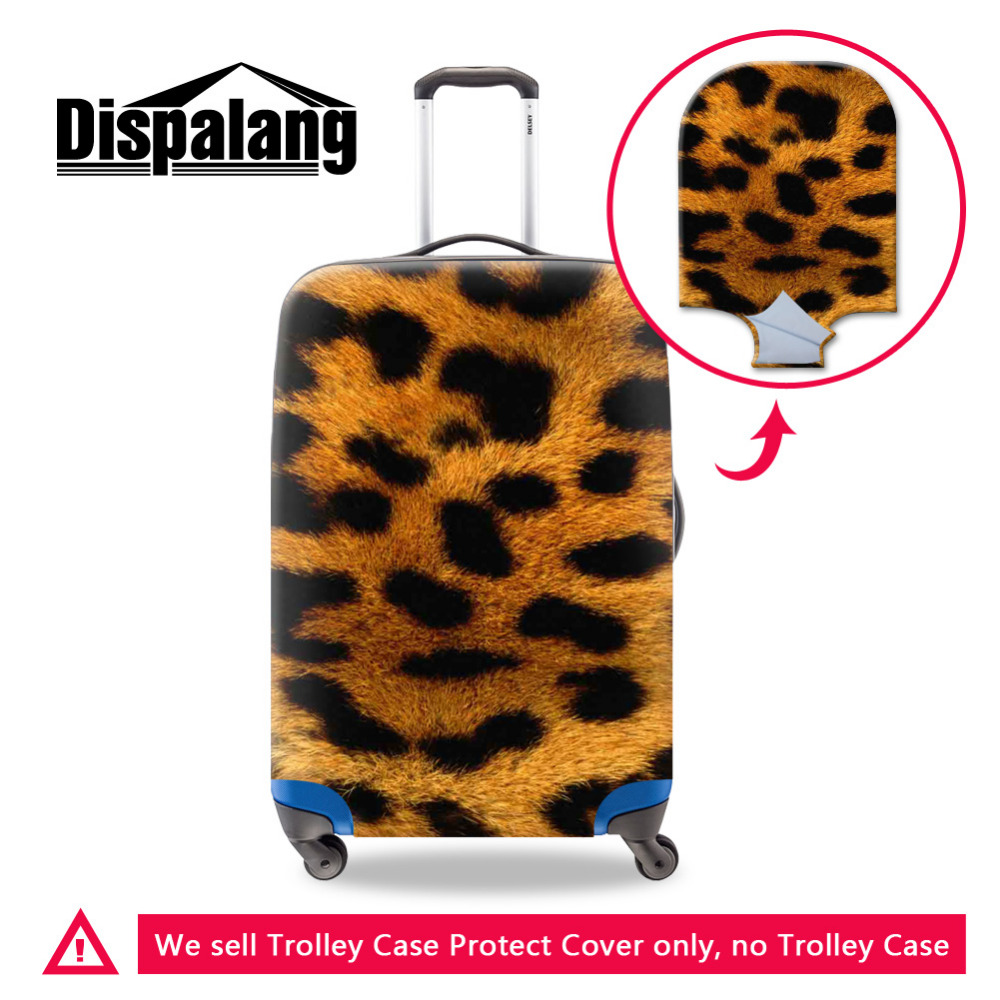 New Leopard Print Bagaż Ochronny pokrowiec na 18-30-calową walizkę Fashion Elastic Bagaż Cover Cool Travel Trolley Accessories