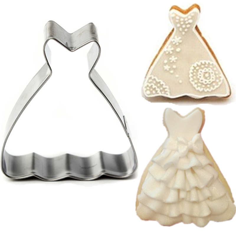 Online Multi Function Diy Cake Mold Wedding Dress Princess Gown Cookie Cutter Biscuit Jelly Fondant Chocolate Kithen Baking Tools Aliexpress